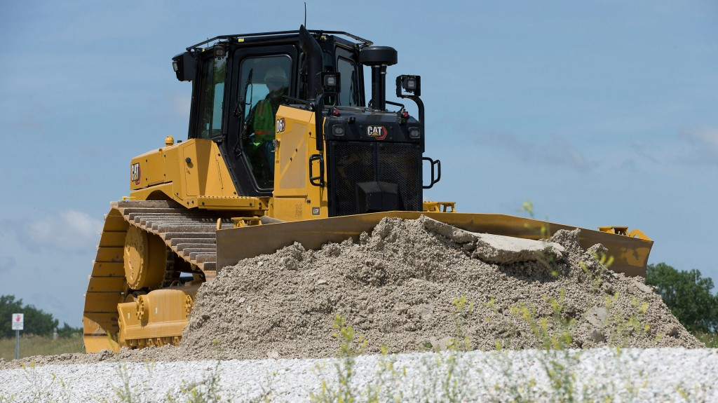 The new Cat D6 XE dozer.