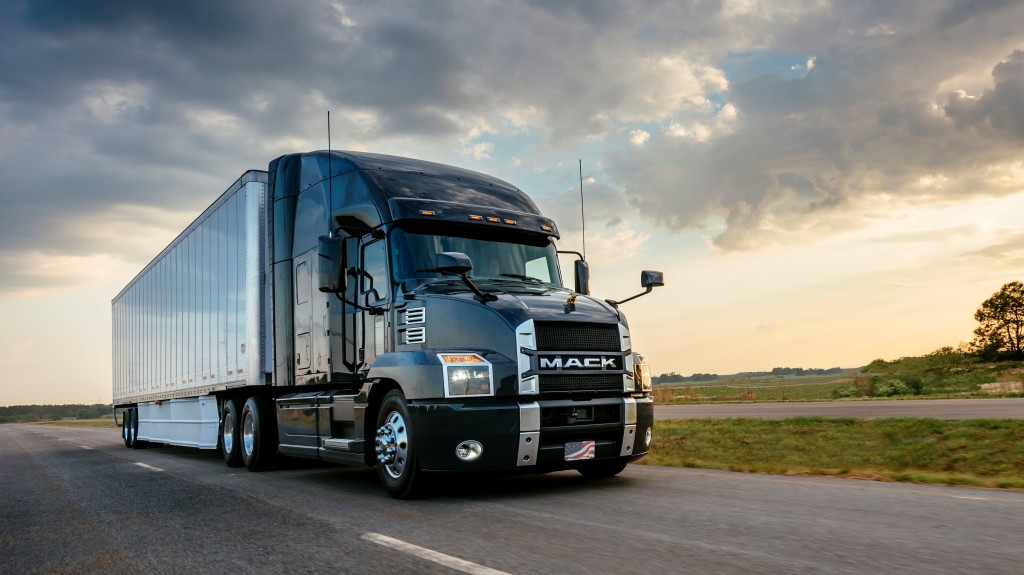 Mack Trucks will display two Mack Anthem® models (seen here), one Mack® Pinnacle™ model and one Mack Granite® model in booth 4259 at ExpoCam April 11-13 at Place Bonaventure in Montreal, Quebec.