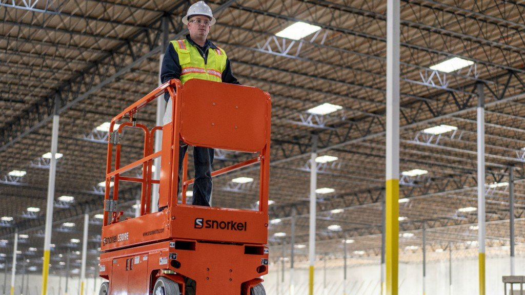 The new Snorkel 3019E electric slab scissor lift.