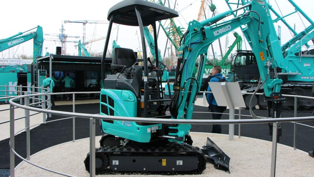 Kobelco shows 1.7-tonne Deutz electric mini excavator concept at bauma