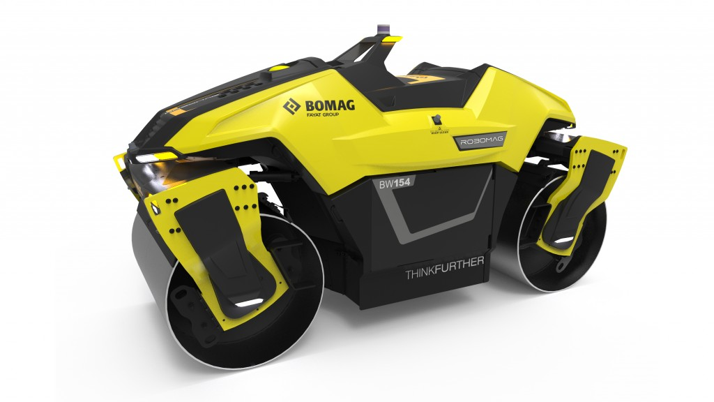 Robomag is a fully autonomous tandem roller, which Bomag developed as a technology study that can be seen in a live demonstration at bauma in April.