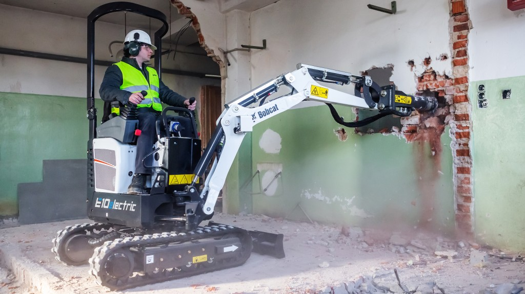 """""""Based on market research and customer interest, we concluded that the 1 tonne electric mini-excavator sector is the most useful type and size - it is ideal for indoor demolition and basement digging."""""""