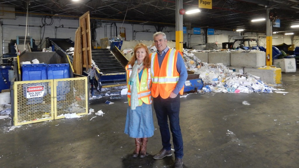 Louise Schwarz and Robert Weatherbe, co-founders of Vancouver-based Recycling Alternative.