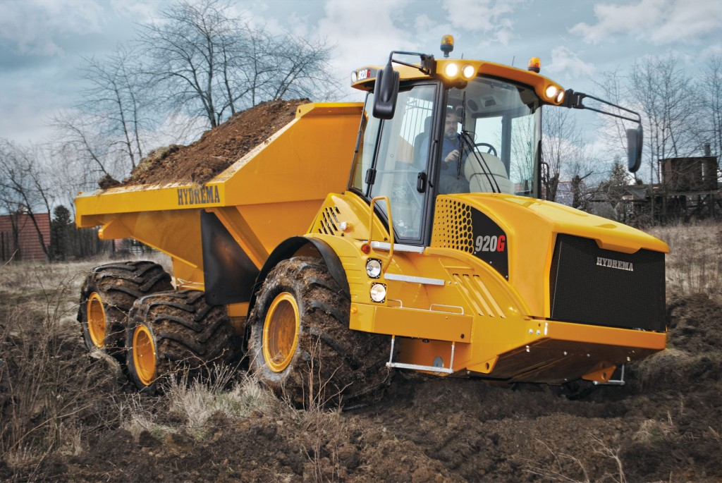 """The 920 is the same basic machine as the 922 but comes with wider 920mm wheels and a slight reduction in payload,"""" explains Hydrema's R&D Manager, Thorkil K. Iversen."""