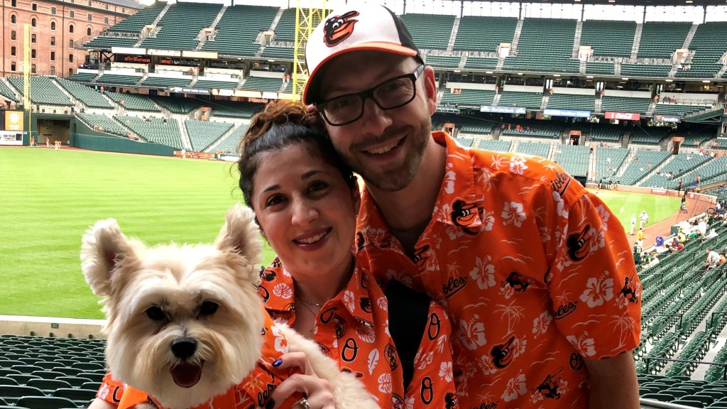 Heather Lester, SMART's director of meetings and member services and her husband, Scott, re-purposed an old shirt to create a fun outfit for their dog, Marshall, to celebrate their favorite sports team