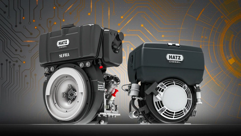 With the new E1 technology, Hatz is now also bringing single-cylinder engines of the B-series and D-series for small devices into an interlinked future.