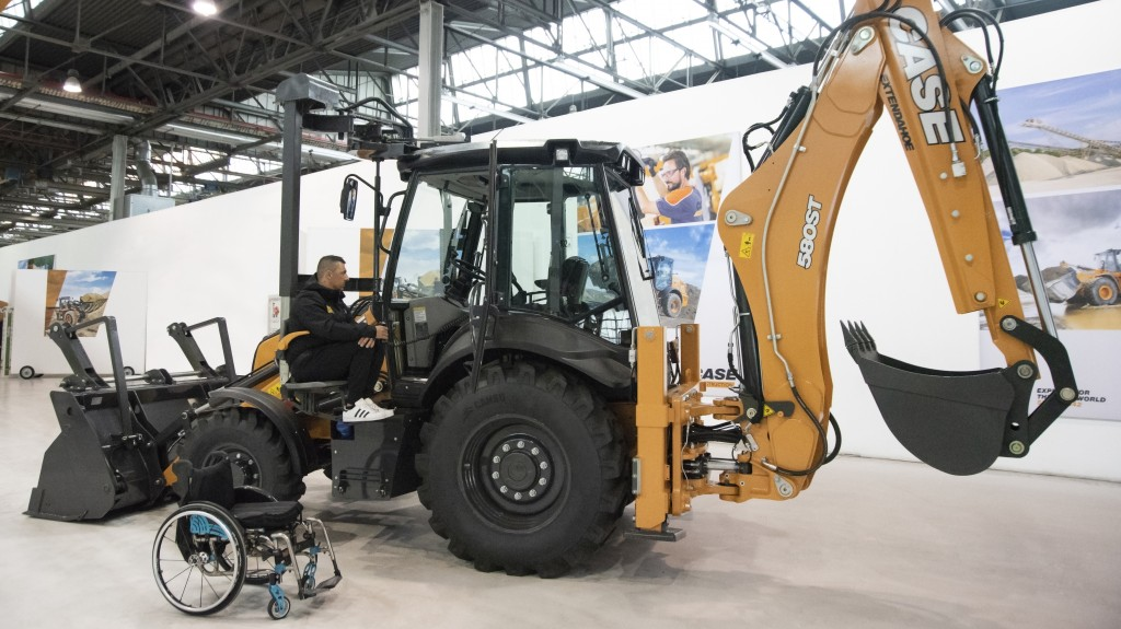 Case accessible backhoe loader prototype designed to make equipment operation more inclusive