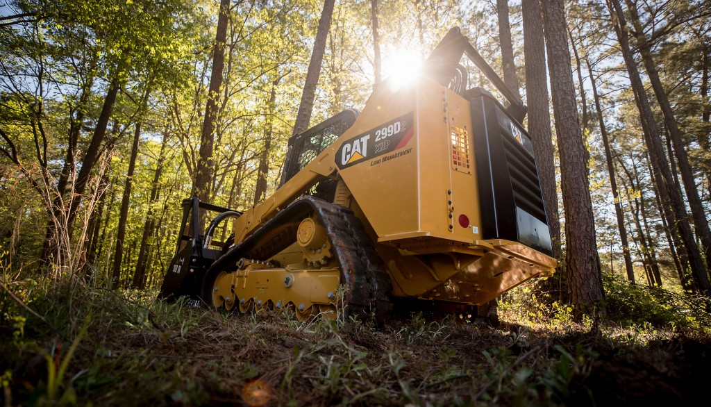Cat land management compact track loader is built to handle difficult land-clearing applications
