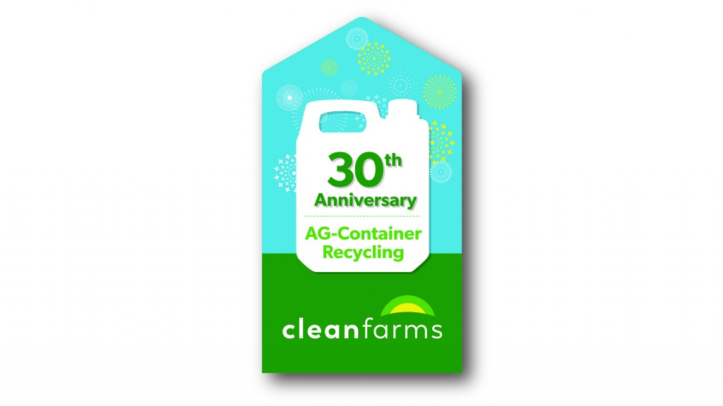 During Earth Week, April 22 to 28, Cleanfarms is celebrating the 30th anniversary of collecting plastic jugs 23L and under for recycling.