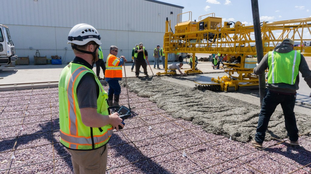 Terex Bid-Well Service School Class gets preview of new remote control concrete paver
