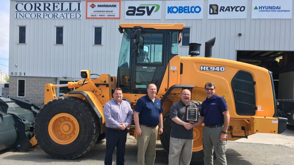 Hyundai Construction Equipment adds Correlli, Inc  to Northeast