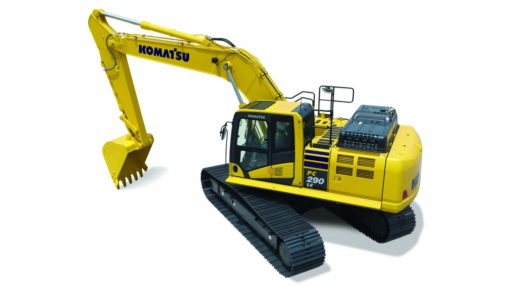 The new PC290LCi-11 features intelligent Machine Control (iMC) which is based on Komatsu's unique sensor package, including stroke sensing hydraulic cylinders, an IMU sensor, and GNSS antennas.