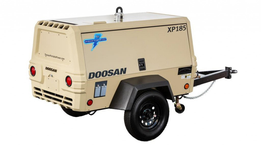 The XP185 can simultaneously power both air and electrical tools when outfitted with an optional 4kW generator.