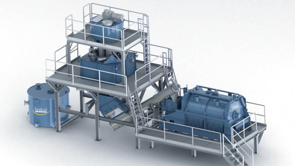 Herbold Hot Wash System designed to improve volume and quality of a range of recyclates