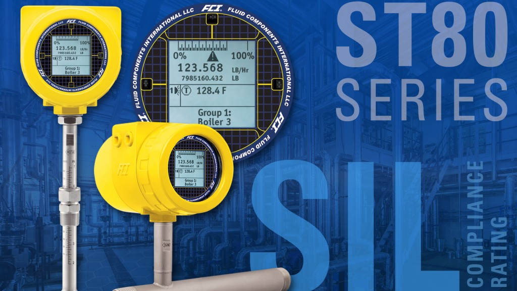 New SIL rated ST80 thermal mass flow meter for Safety Instrumented Systems (SIS)