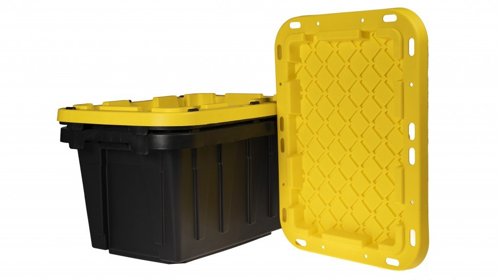 Totes Made with Aaron Industries' JET-FLO™ Polypro, which features Milliken & Company's DeltaMax™ Performance Modifier.