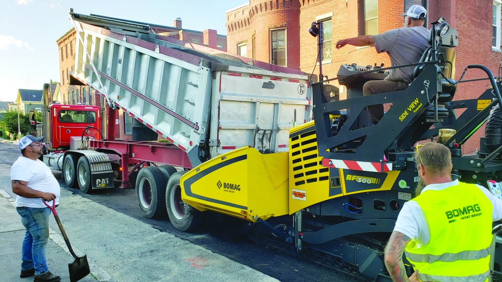 Efficiency and quality mark Bomag's return to commercial paving