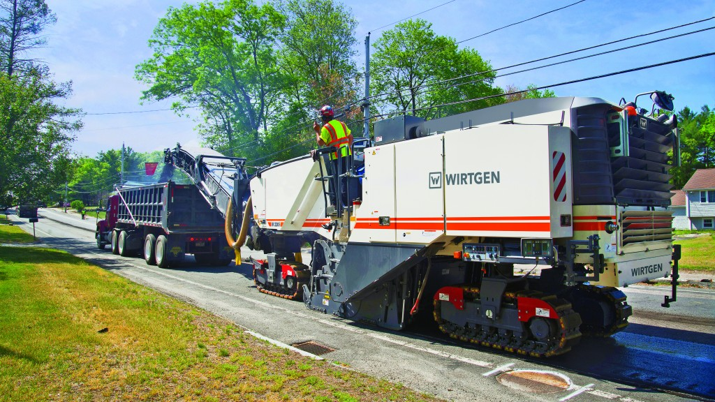 Using asphalt milling machines helps save virgin aggregate and reduce pressure on quarries.