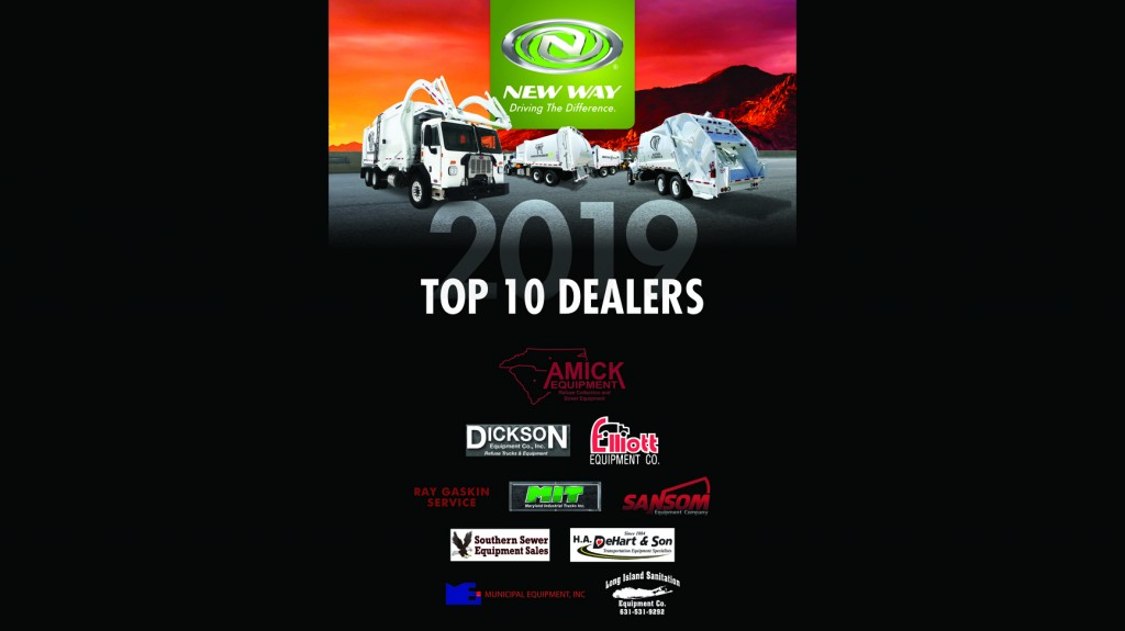 Honoring the Top Ten Dealers of 2018 concludes an eventful month for the leading manufacturer. In early May, New Way participated in the 2019 Waste Expo in Las Vegas and made an impact at the industry event.