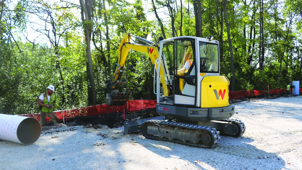 Wacker Neuson's two new compact excavators boast operator comfort, stability, power and serviceability