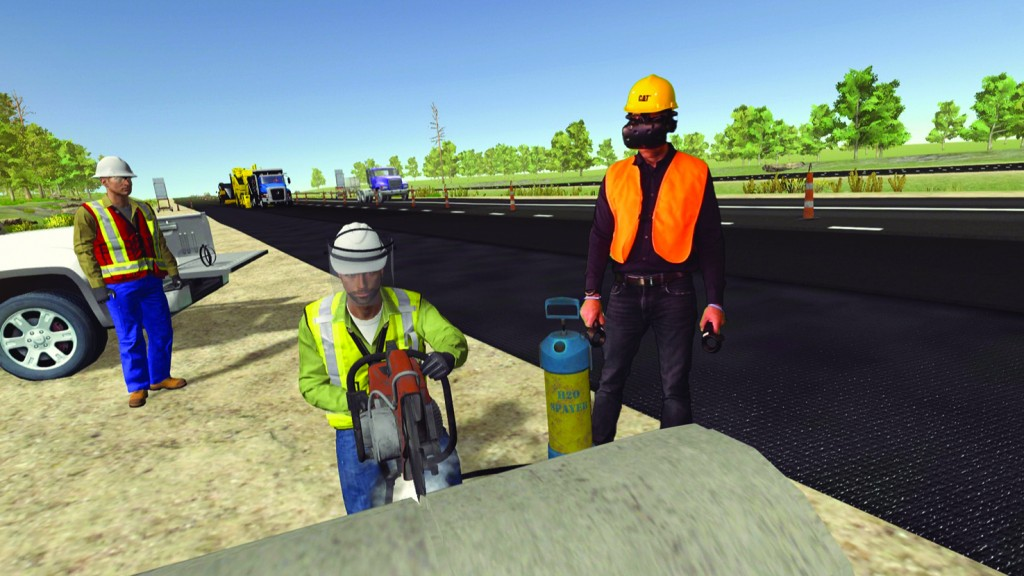 Cat Safety VR module for paving.