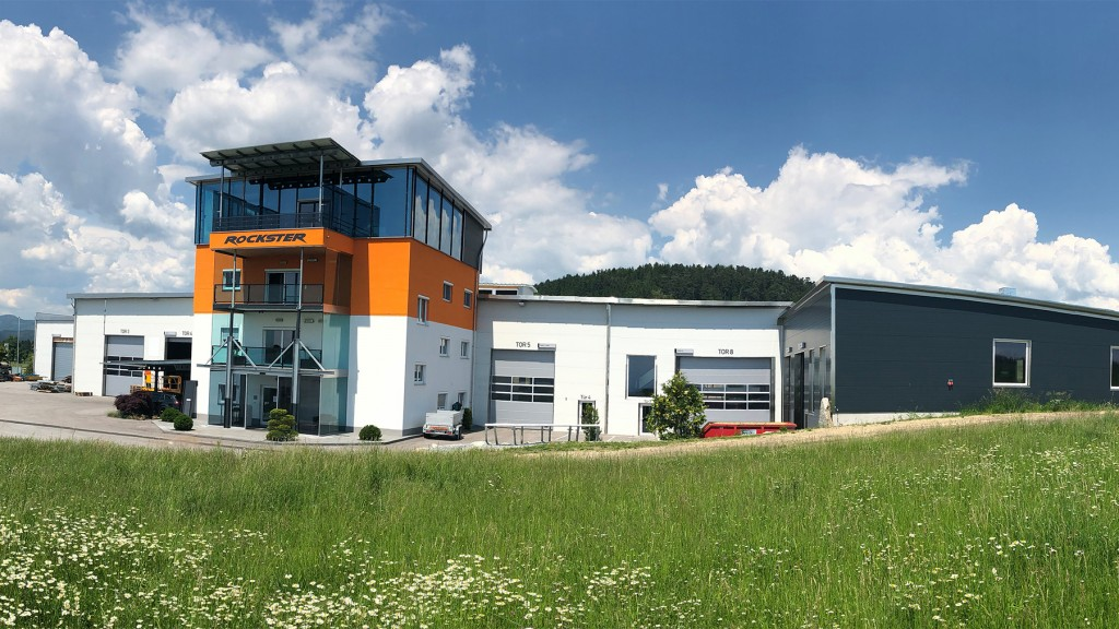 New offices and production building on a 10,000m² premises of Rockster in Neumarkt im Mühlkreis.