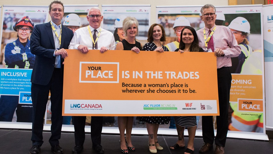 LNG Canada will be rolling out a province-wide awareness campaign to ensure women across B.C. are aware of YOUR PLACE, and the opportunities available to them to participate.