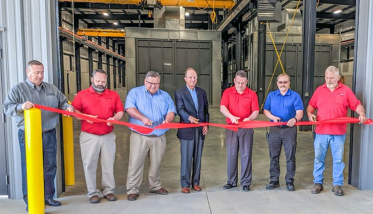 7 guys at the Talbert ribbon cutting ceremony for new facility