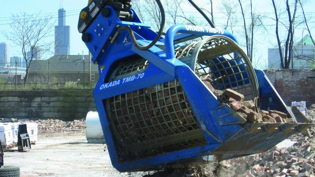 Screen C&D debris with Okada's TMB buckets