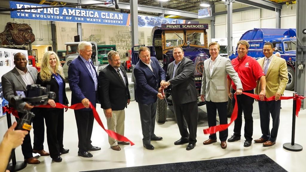 A Mack Trucks ribbon cutting ceremony.