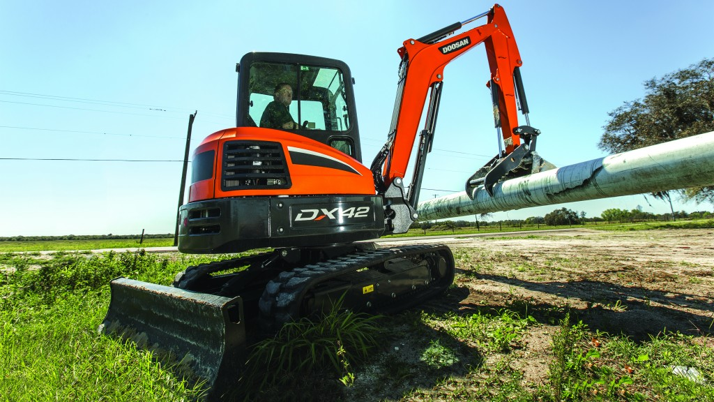 Doosan's three new mini excavators offer high performance in compact packages