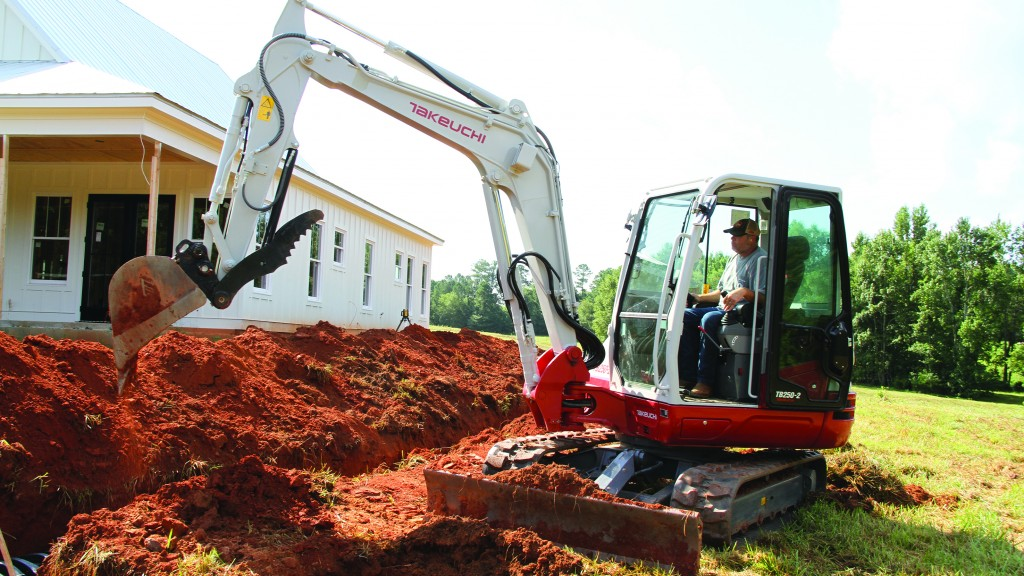 Takeuchi's new 5-ton excavator features spacious cabin, is easy to service