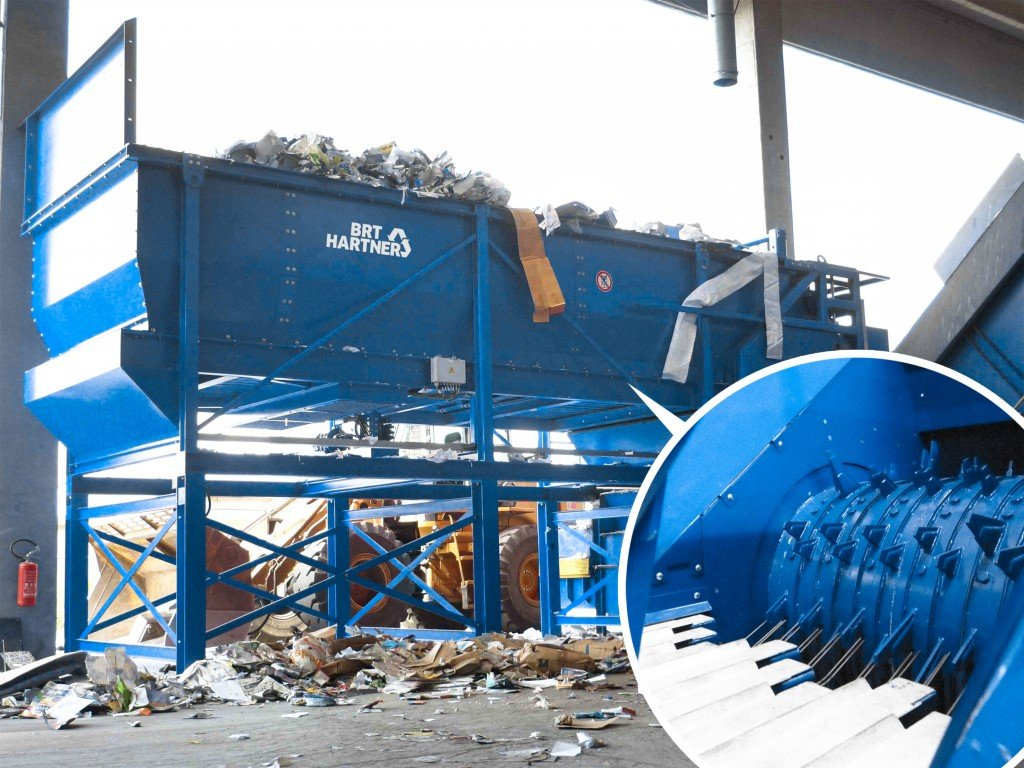 Eggersman bag opener for mixed waste