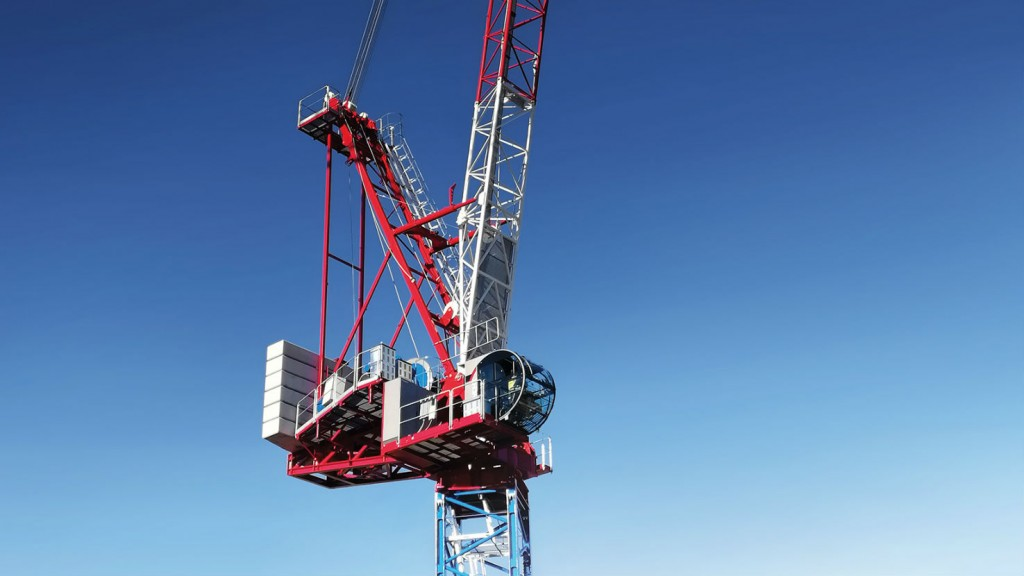 Raimondi's LR372 luffing tower crane.
