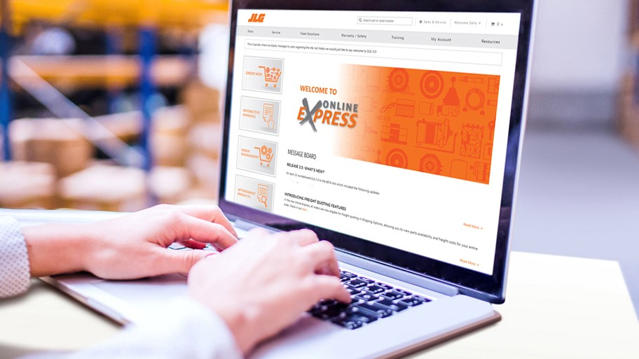 """JLG is constantly evaluating customer feedback in order to provide a quick, convenient purchasing experience,"" said Travis Myers, JLG director of product support. ""The improved Online Express is an efficient, user-friendly purchasing tool for customers to order parts for their entire fleet."""