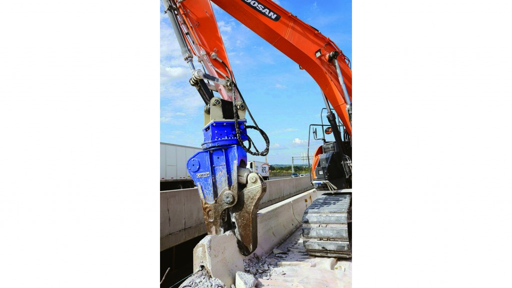 Okada rotating pulverizer boasts exceptional concrete crushing ability