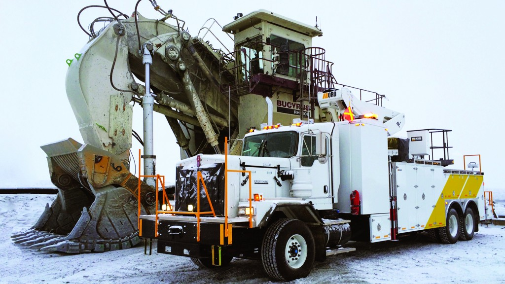 Service trucks are designed for all kinds of weather conditions.