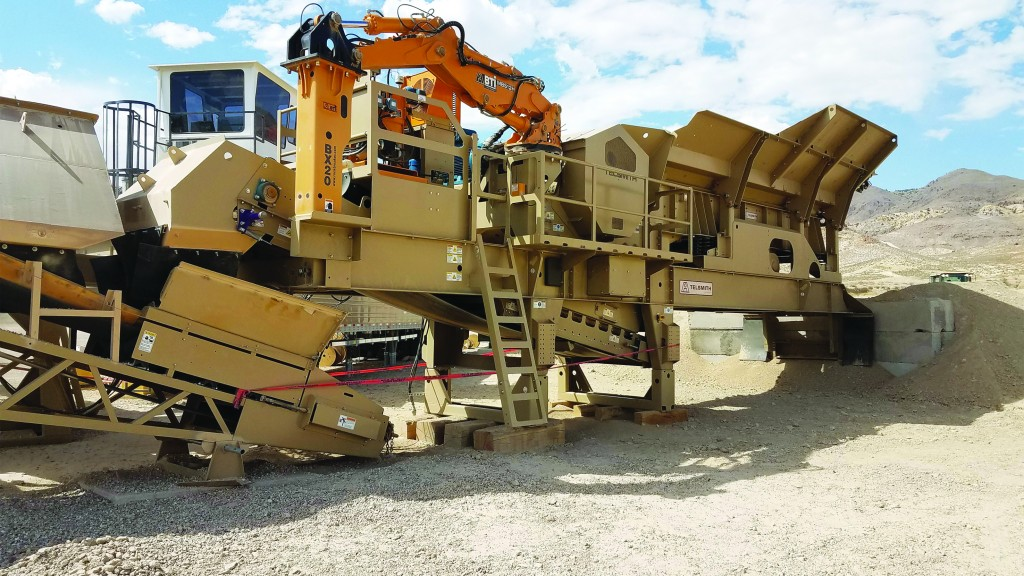 Telsmith adds unique hydraulic chamber clearing system to make jaw crusher jam clearout safer