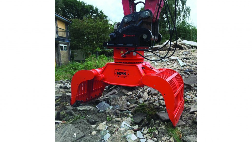 NPK demolition grabs efficient for sorting and recycling C&D waste