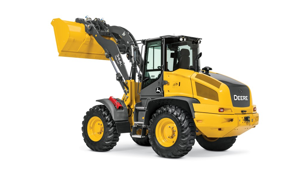 """The 344L High-Lift was designed to provide operators with increased hinge pin height and dump clearance."""""""