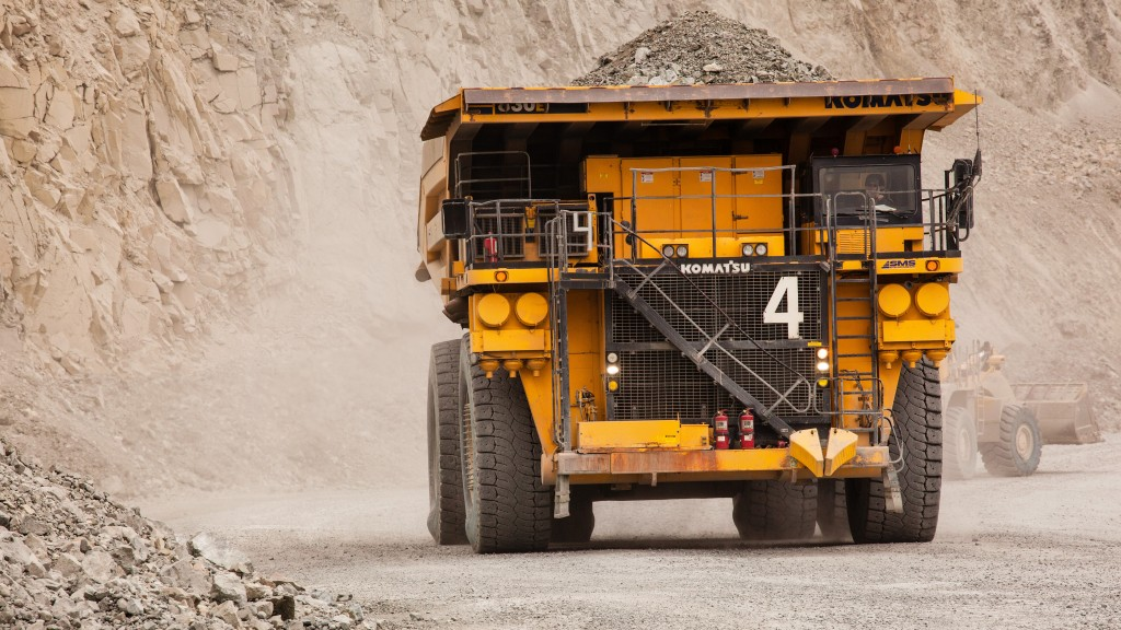 a hauler being driven on a mining site