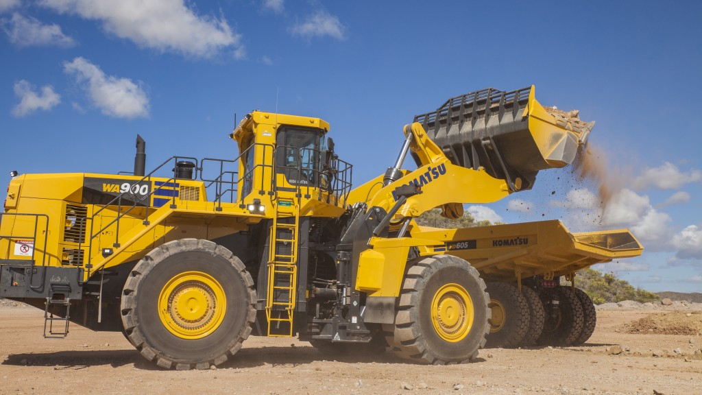 Komatsu's new 128-ton wheel loader is built for serious loading efficiency