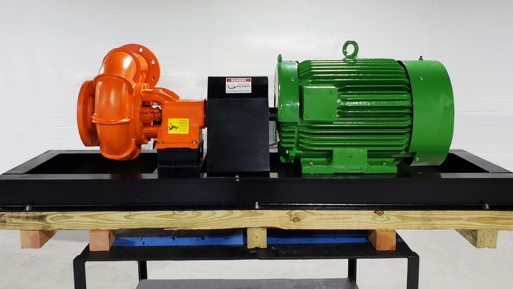 High HP phase electric motors coupled with pumps provide rapid productivity