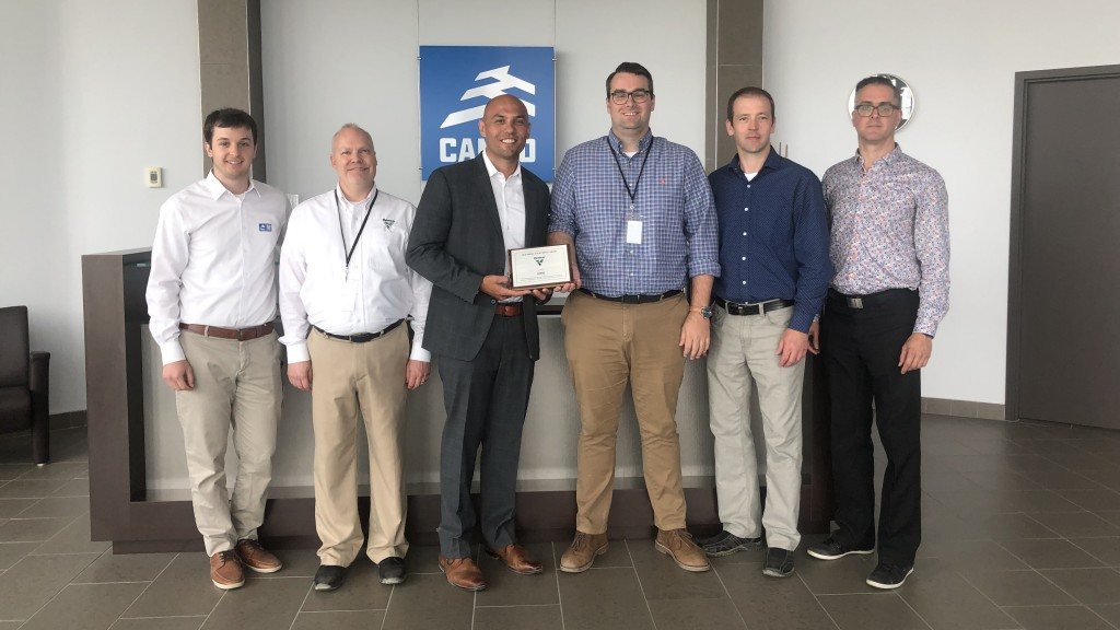 """We are proud and honored to accept Vermeer Corporation's Making a Real Impact supplier award, a recognition of the efforts of our multi-functional team,"" claims Wesley Frye, OEM Sales Director, Construction, North America at Camso."