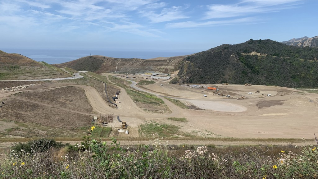 The Santa Barbara, California ReSource Center (early stages of the site under construction shown here) is expected to generate enough energy to be self-sustaining and create enough electricity to power an additional 2,000 homes, while greatly reducing greenhouse gas emissions.