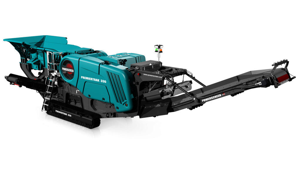 "The Premiertrak 330 crusher uses a 1000mm x 600mm (40"" x 24"") jaw chamber and is capable of producing up to 280tph (308 US tph) of crushed material. It can be used in a range of applications including aggregate, recycling and mining."