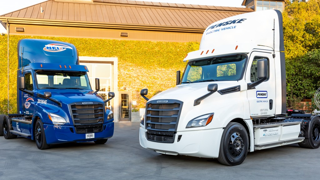 """We're pleased to continue our collaboration with Freightliner and be among the first companies putting the eCascadia to work,"" said Brian Hard, president and CEO of Penske Truck Leasing."