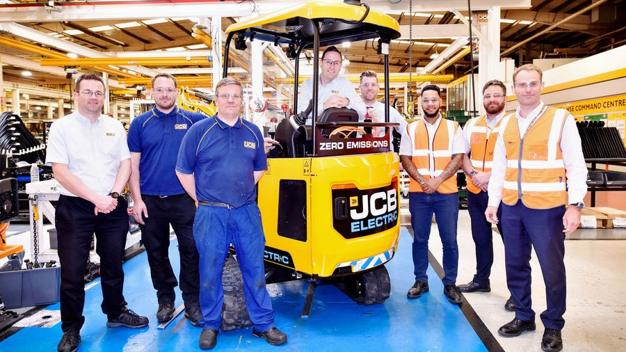 JCB delivers first 50 electric mini excavators as full