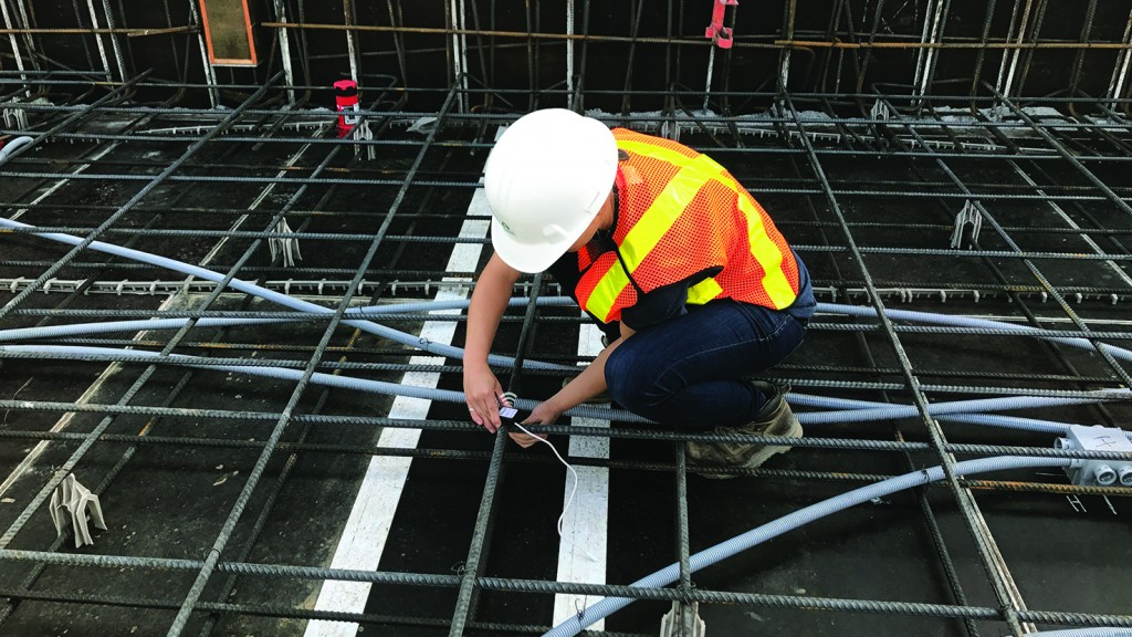 Wireless concrete maturity sensors take the waiting game out of concrete strength tracking