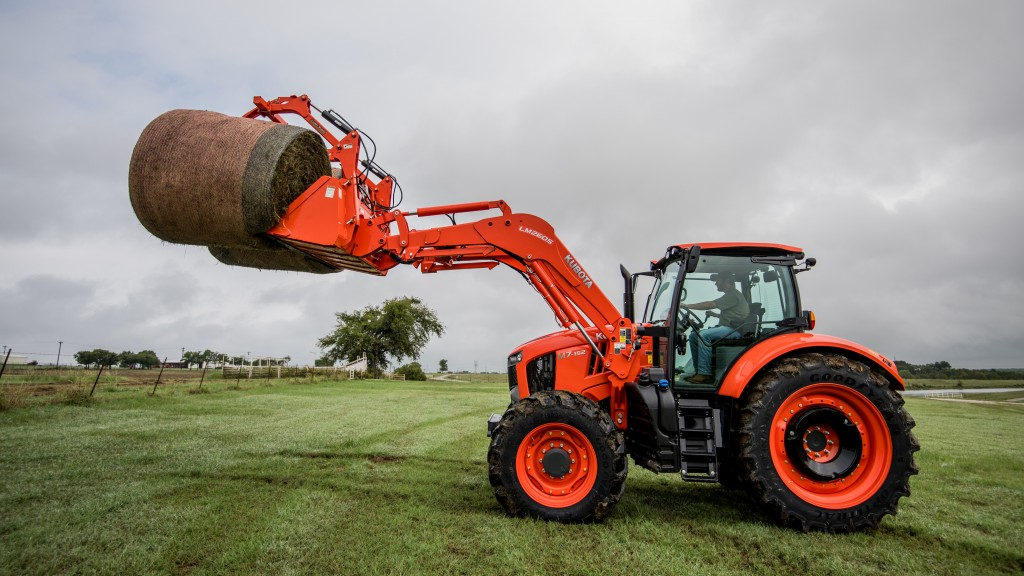 """The Goodyear LSW Optitrac is an excellent tire option for our dealers and their customers,"" says Kent Brown, Kubota senior product manager, ag utility tractors."